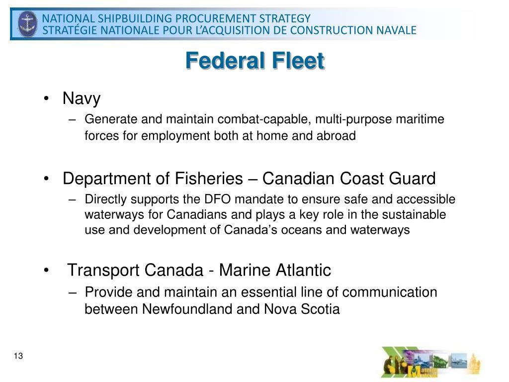 Federal Fleet