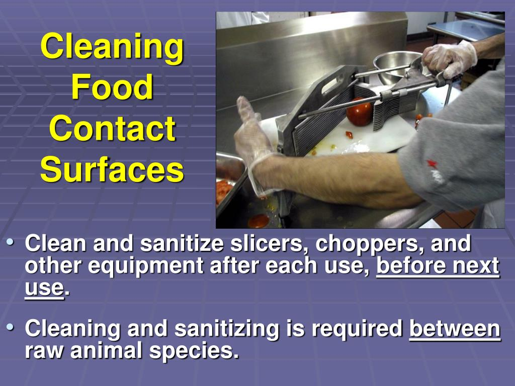 Cleaning Food Contact Surfaces