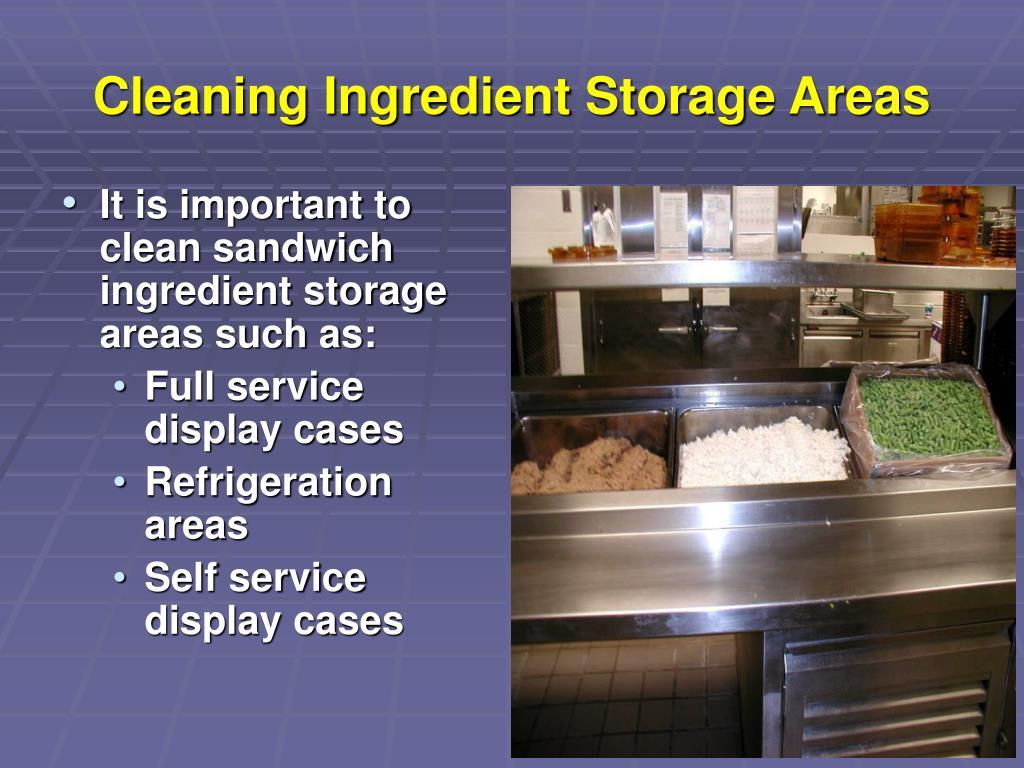 Cleaning Ingredient Storage Areas