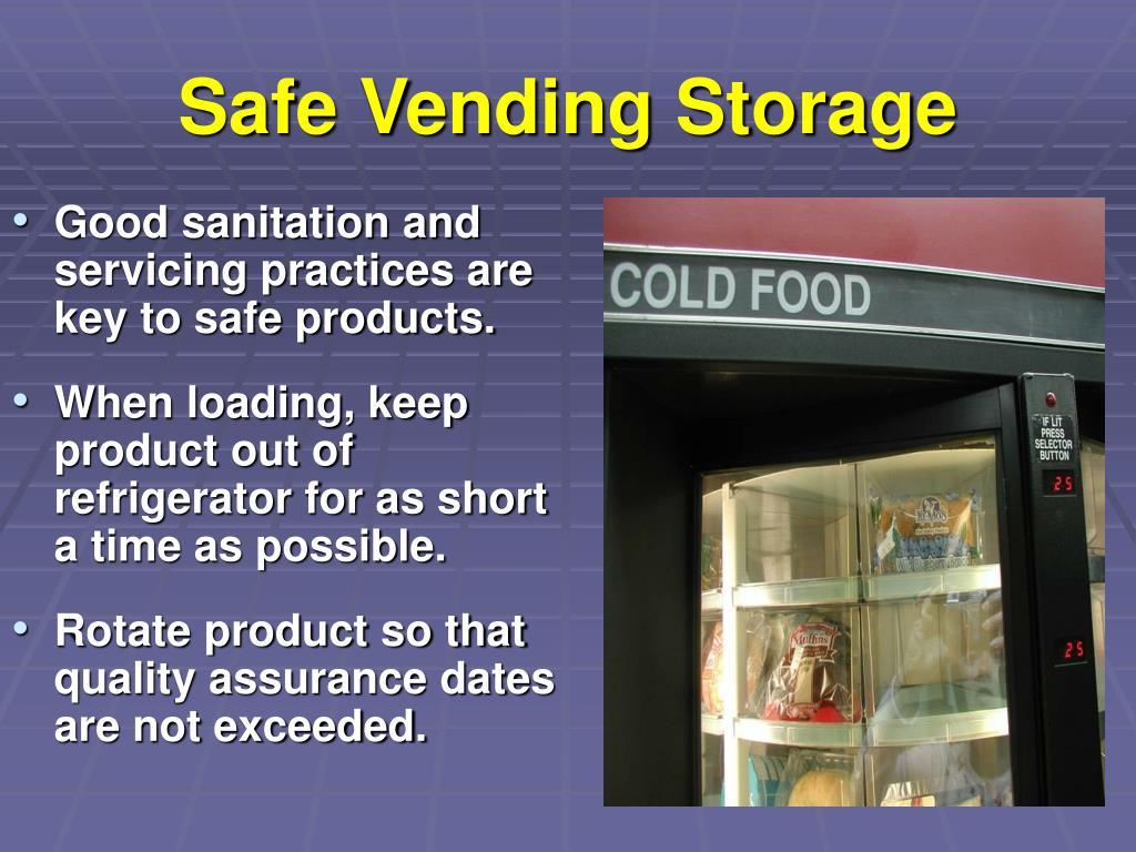Safe Vending Storage
