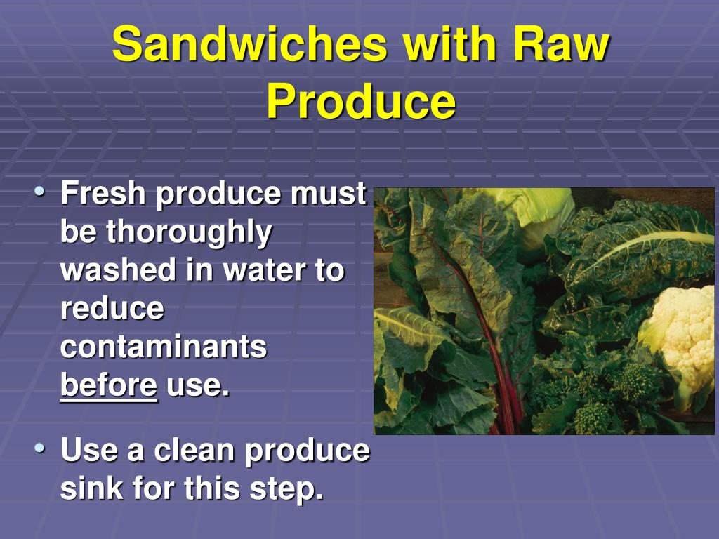 Sandwiches with Raw Produce