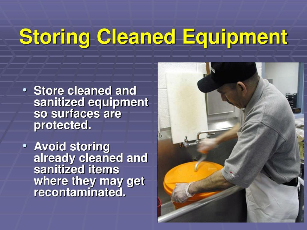 Storing Cleaned Equipment