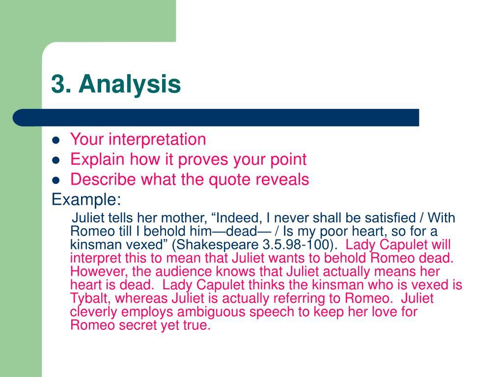 3. Analysis
