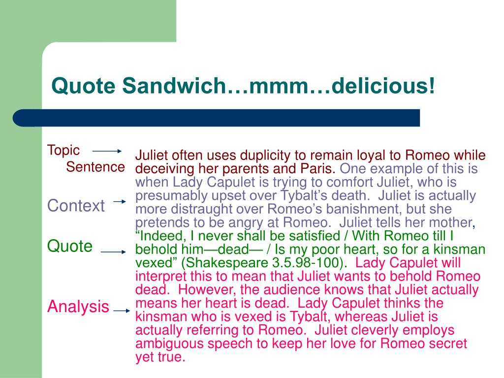 Quote Sandwich…mmm…delicious!