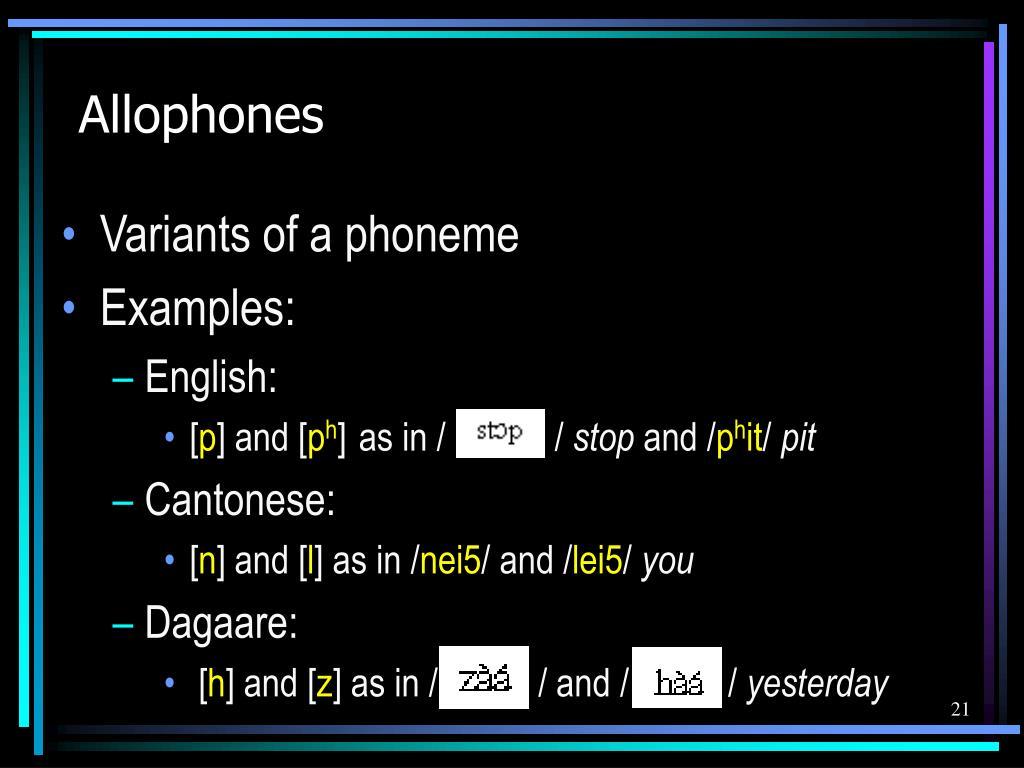 Allophones