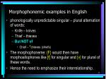 morphophonemic examples in english
