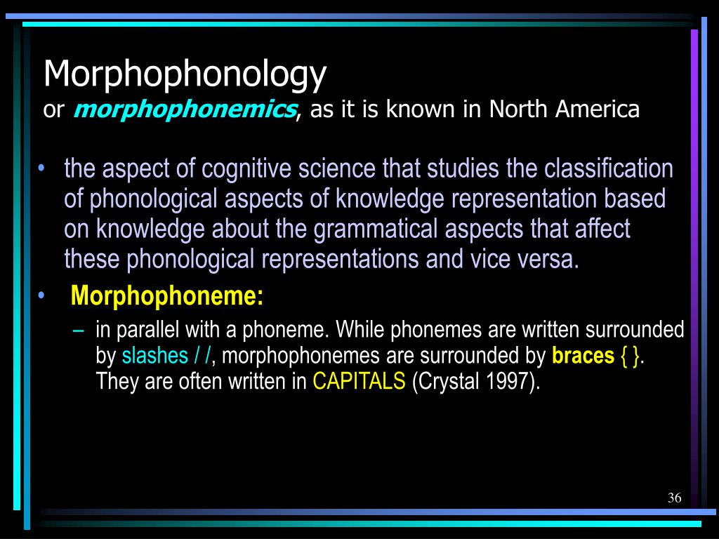 Morphophonology