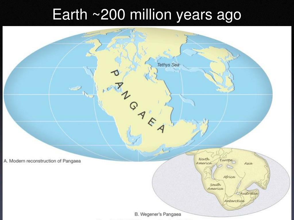 Earth ~200 million years ago