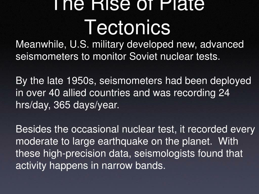 The Rise of Plate Tectonics