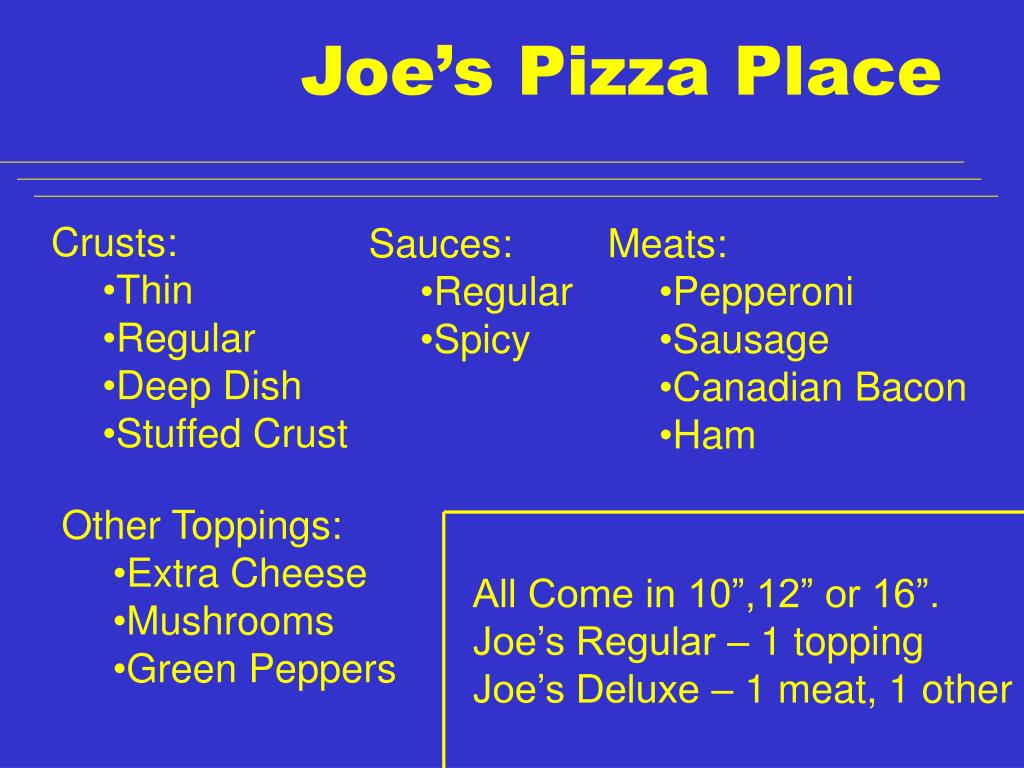 Joe's Pizza Place