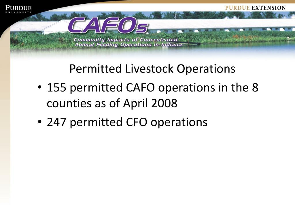 Permitted Livestock Operations