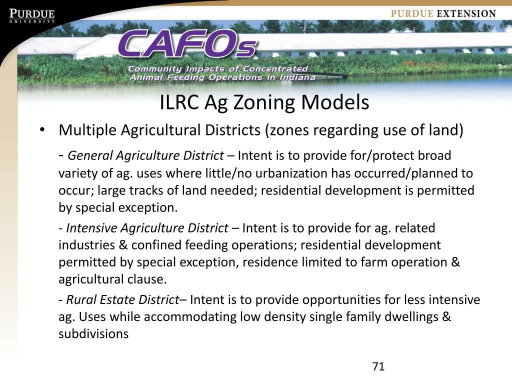 ILRC Ag Zoning Models