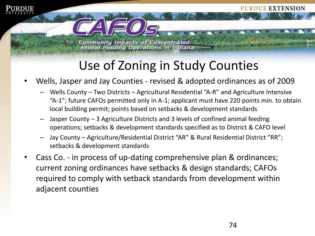 Use of Zoning in Study Counties