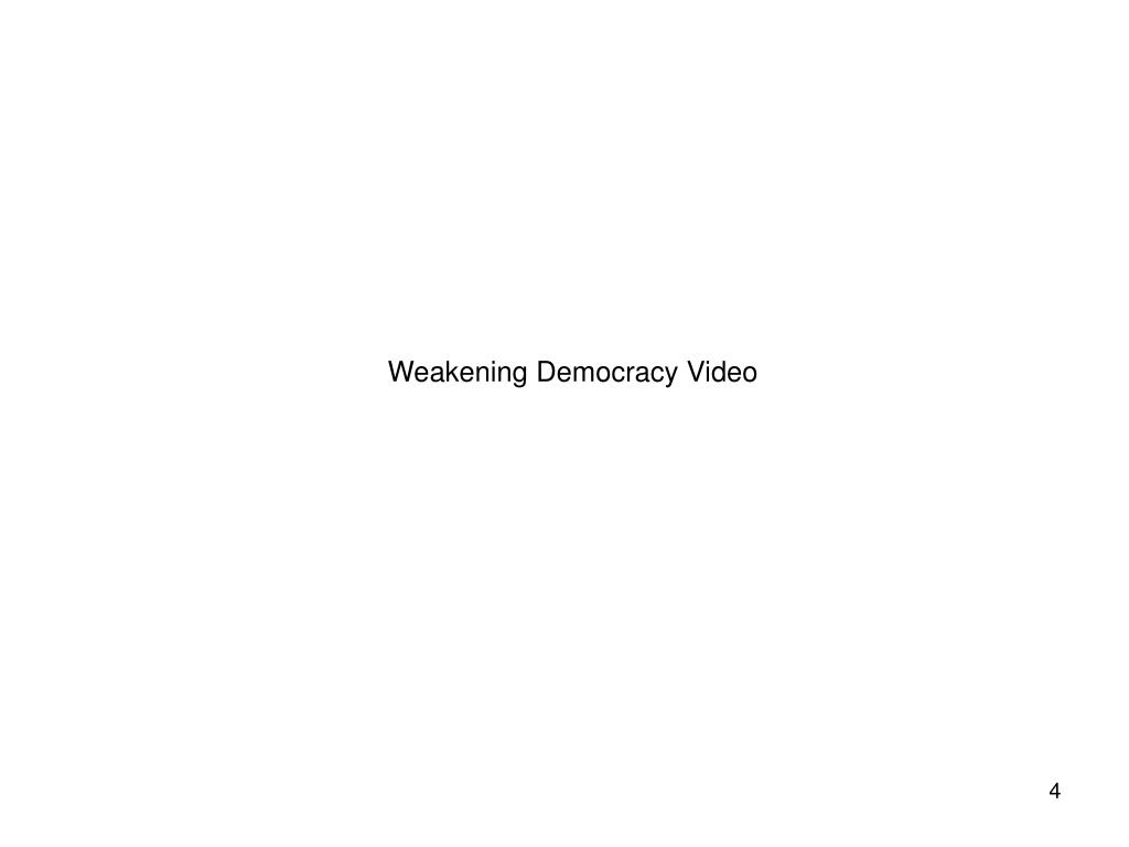 Weakening Democracy Video