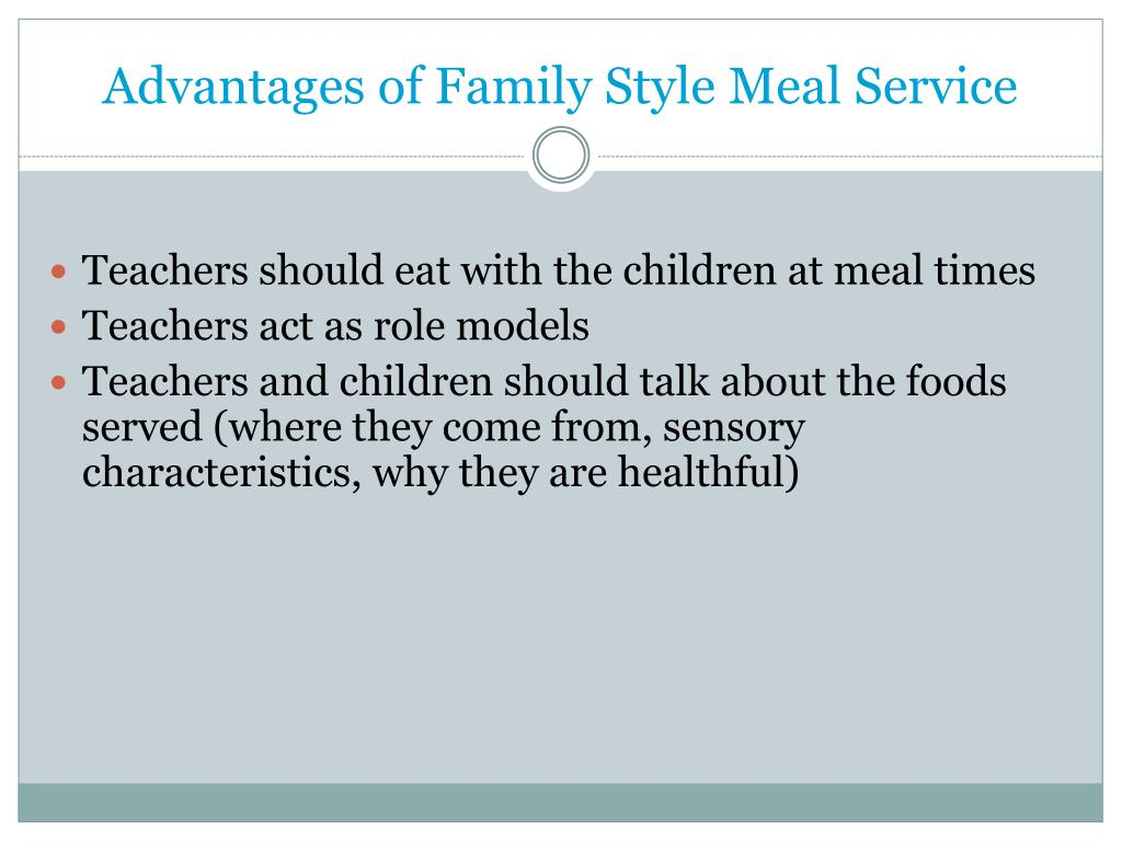 Advantages of Family Style Meal Service