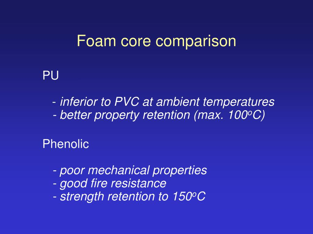 Foam core comparison