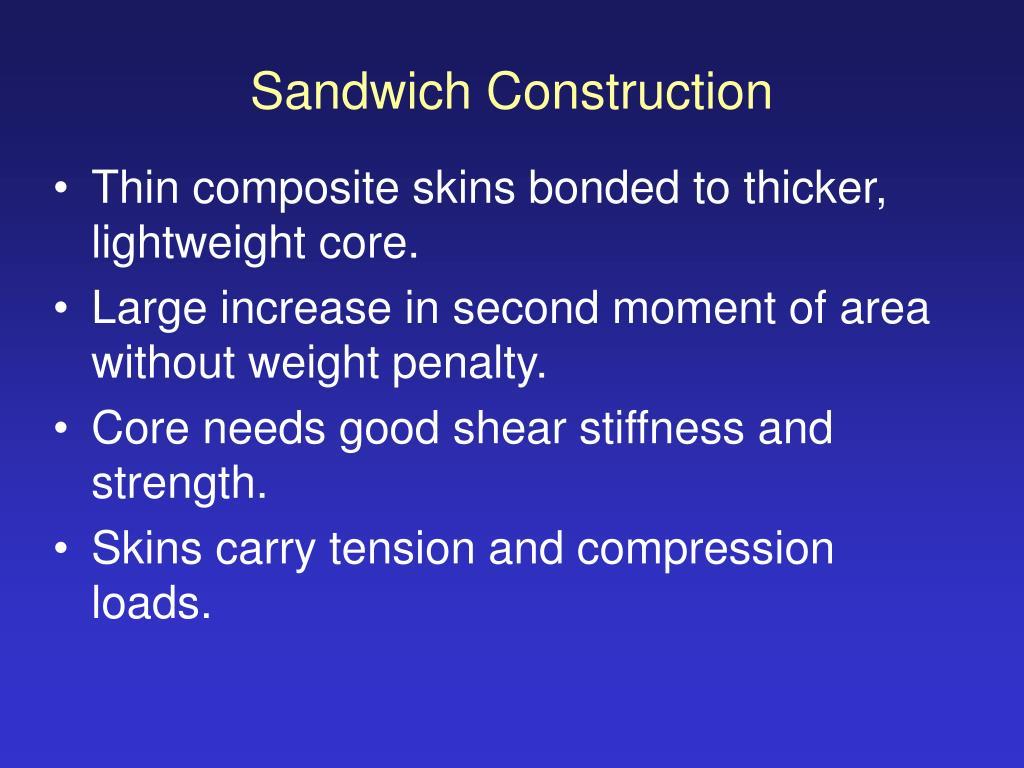 Sandwich Construction