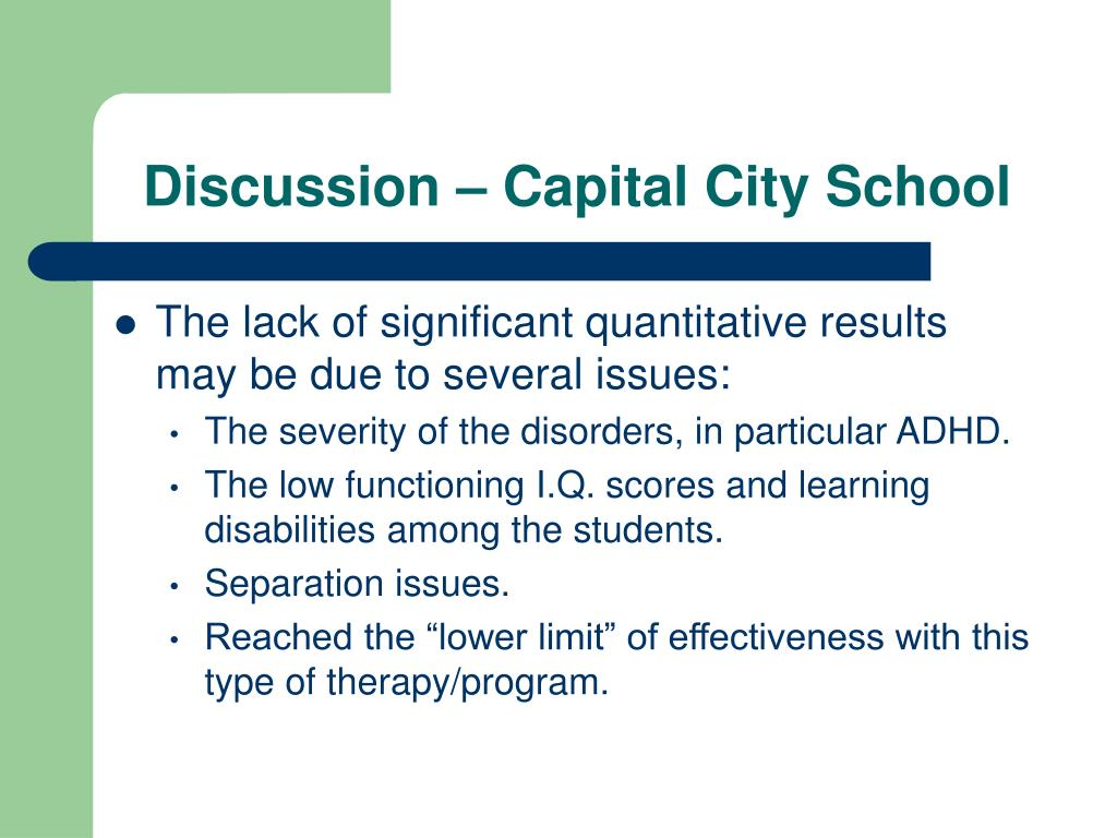 Discussion – Capital City School
