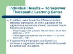 individual results horsepower therapeutic learning center21