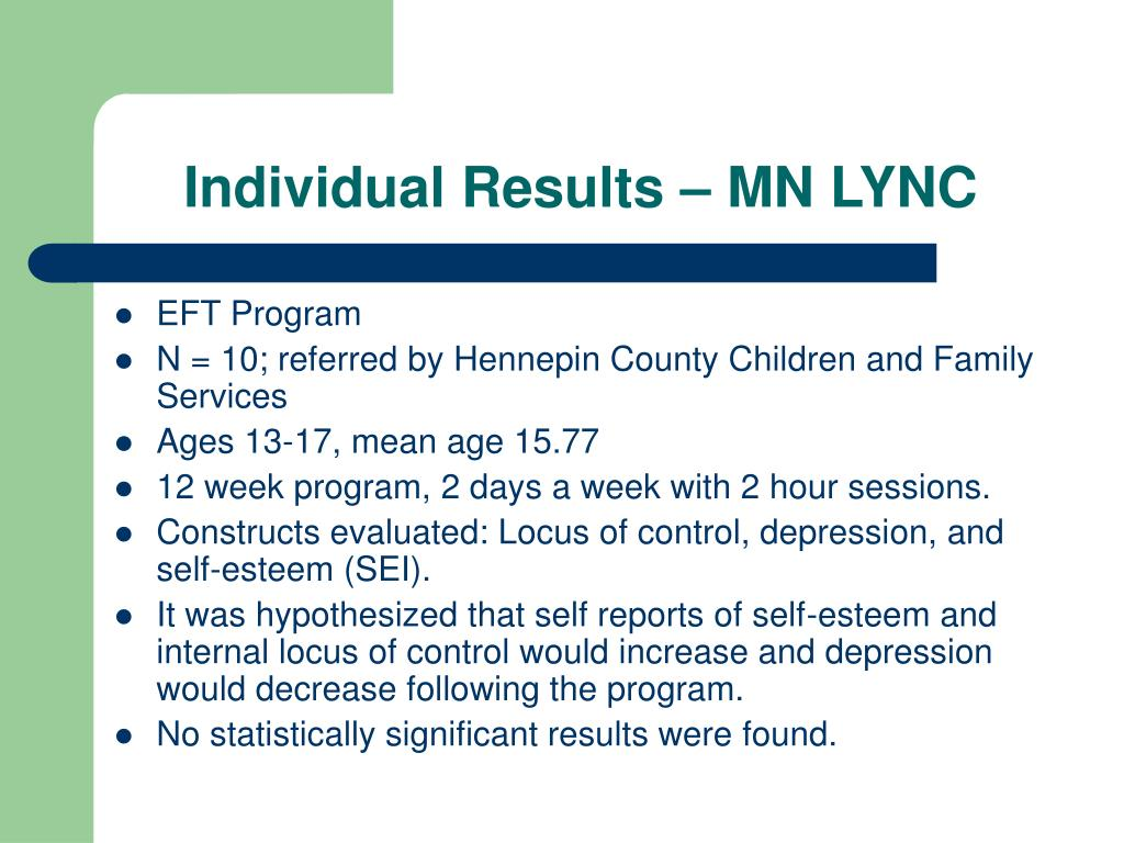 Individual Results – MN LYNC