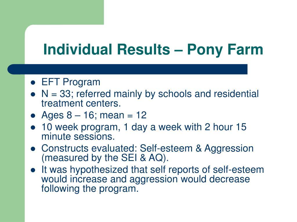 Individual Results – Pony Farm