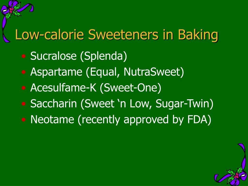 Low-calorie Sweeteners in Baking