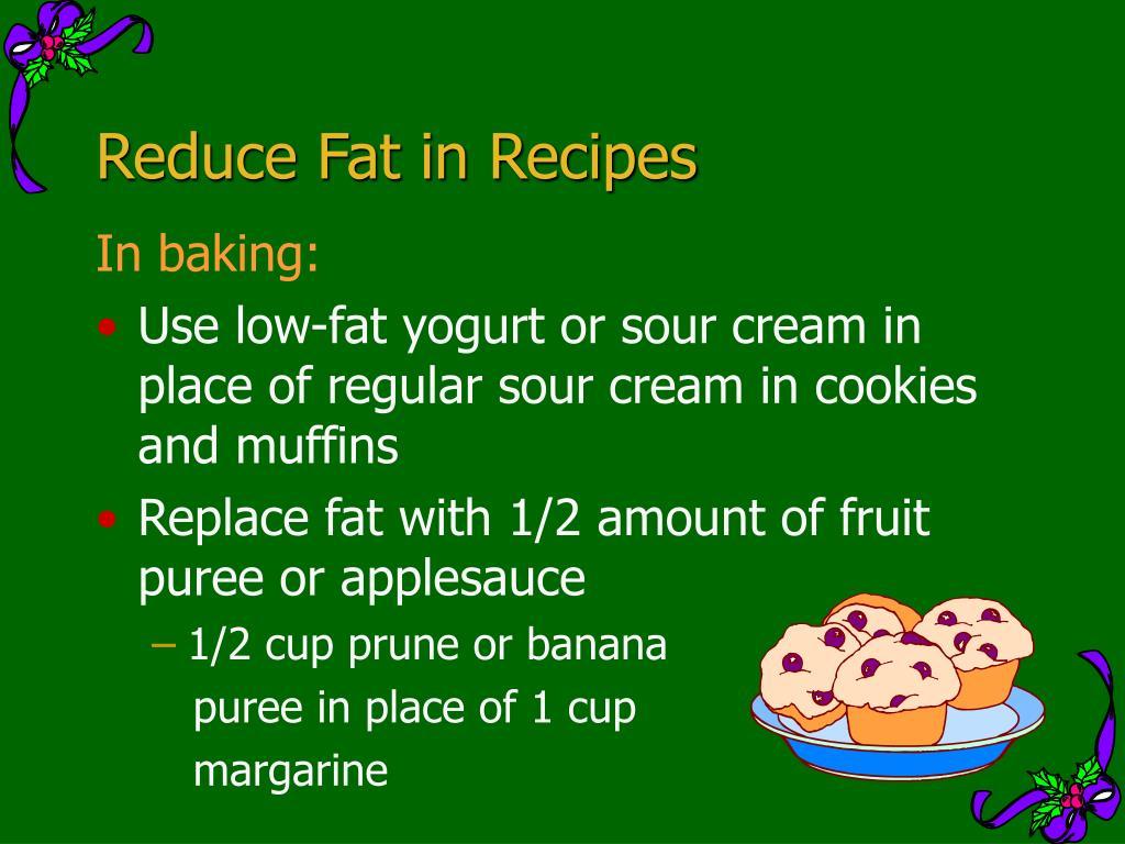 Reduce Fat in Recipes