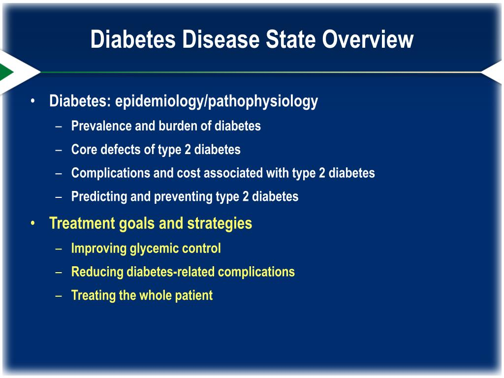 an overview of diabetes mellitus type 1 disease Diabetes mellitus type 2 diabetes mellitus type 2 (dm2) is a disorder of carbohydrate metabolism that leads to hyperglycemia and resultant long-term microvascular (neuropathy, retinopathy, and nephropathy) and macrovascular (coronary artery disease and cerebrovascular disease) complications.