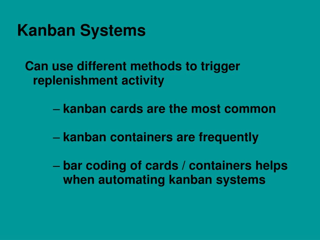 Ppt Kanban Replenishment For All Types Of Industries