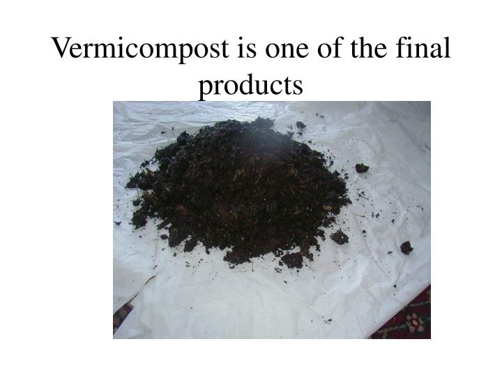 Vermicompost is one of the final products l.jpg