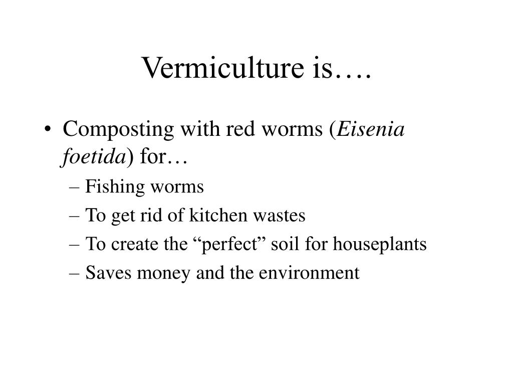 Vermiculture is….