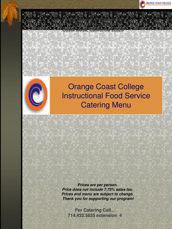 Orange Coast College Cafeteria
