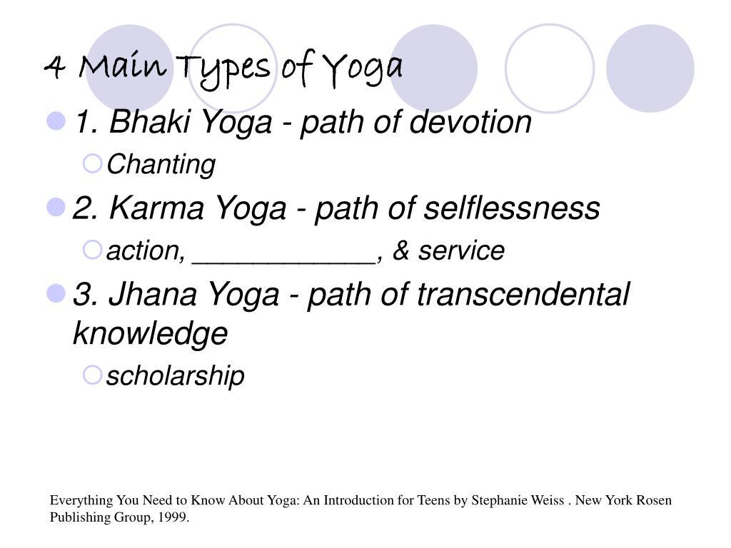 4 Main Types of Yoga