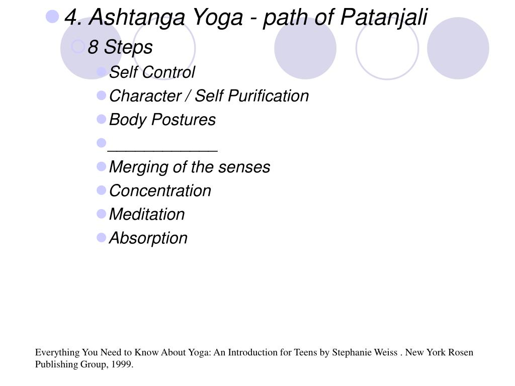 4. Ashtanga Yoga - path of Patanjali