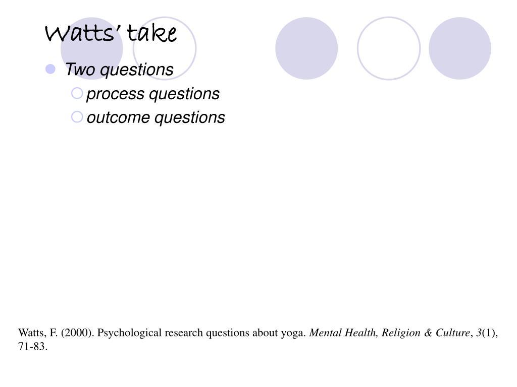 Watts' take