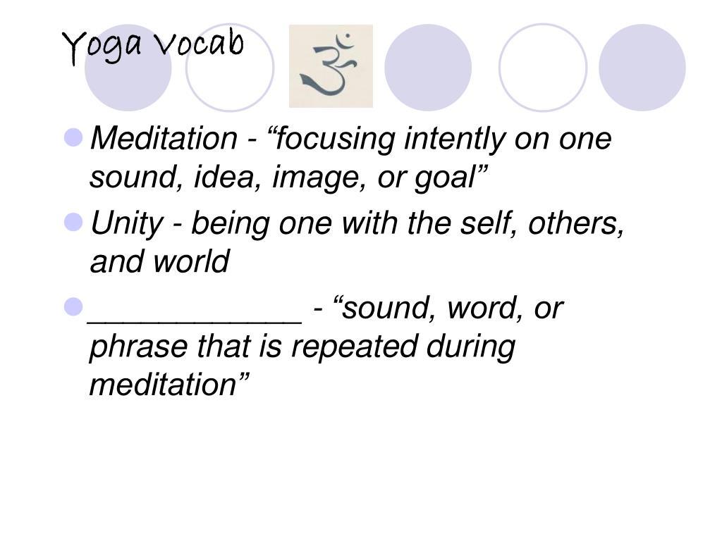 Yoga Vocab