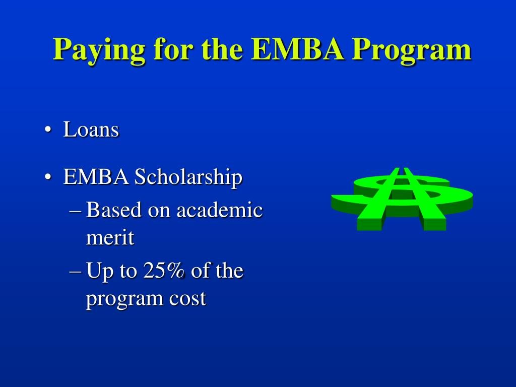 Paying for the EMBA Program