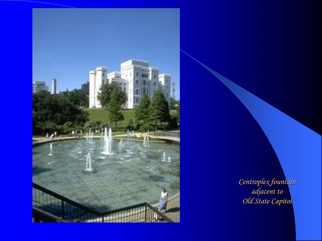 Centroplex fountain adjacent to