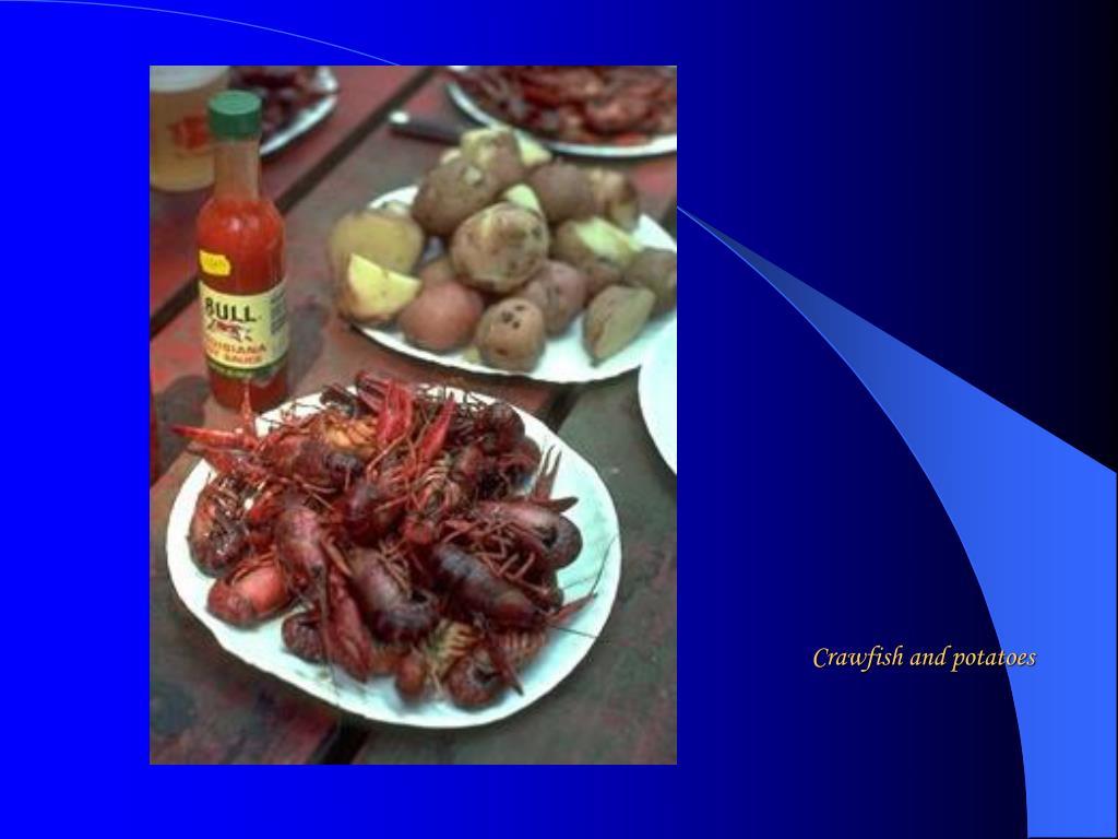 Crawfish and potatoes