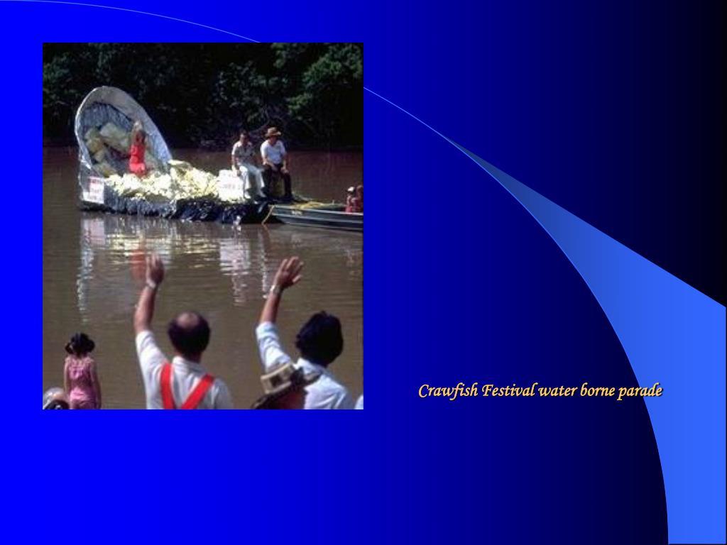 Crawfish Festival water borne parade