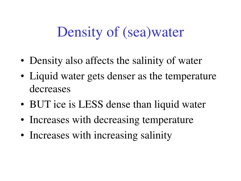 Density of (sea)water