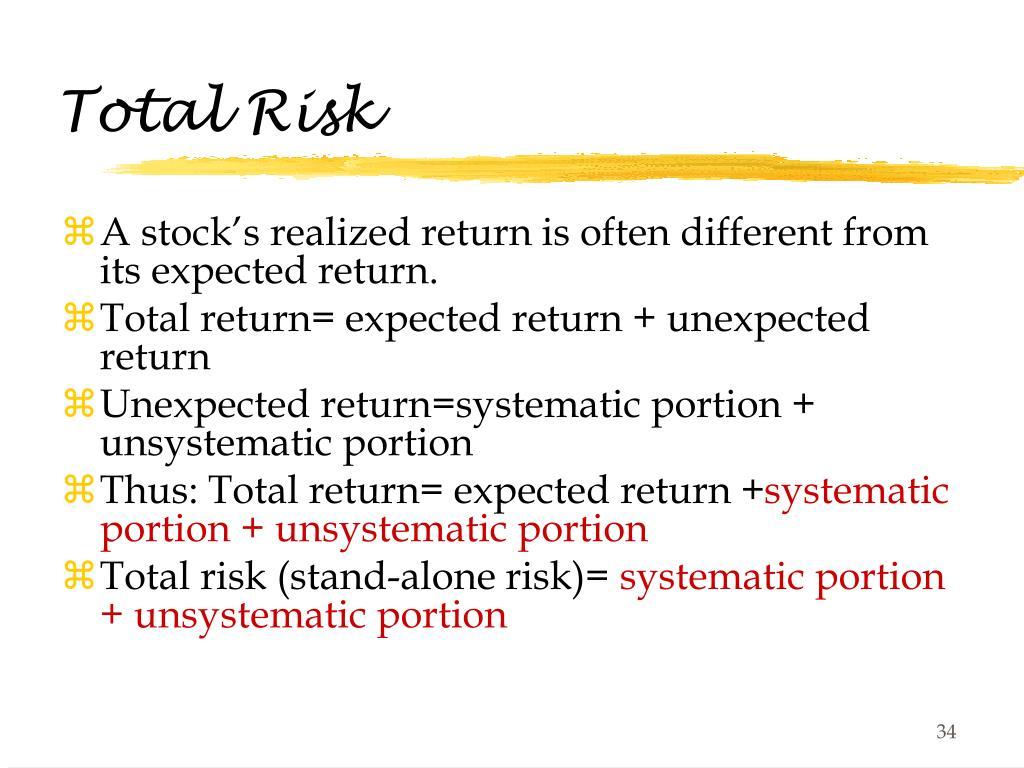 Total Risk