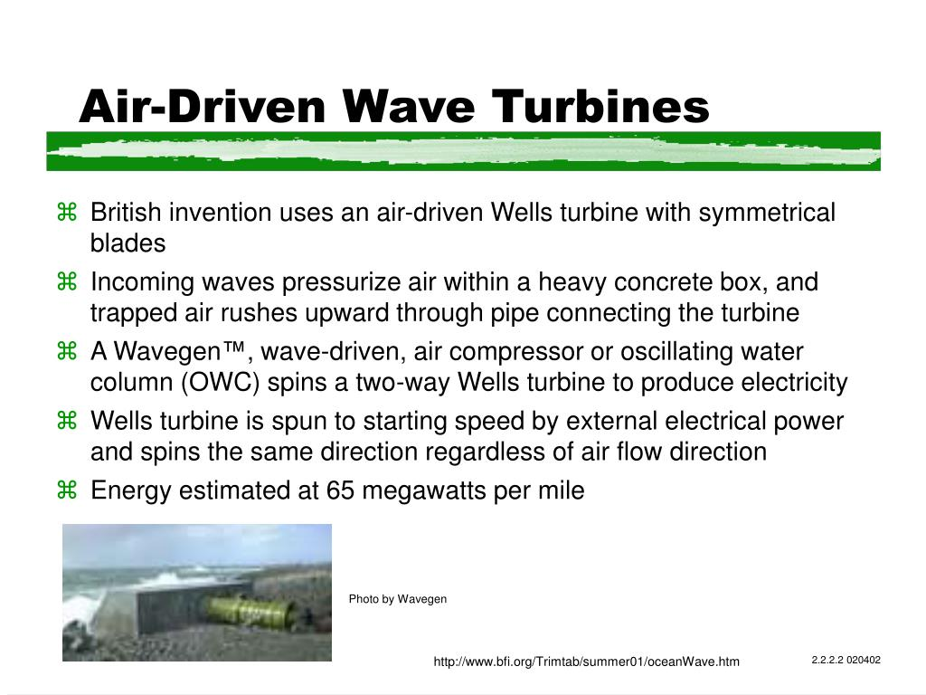Air-Driven Wave Turbines