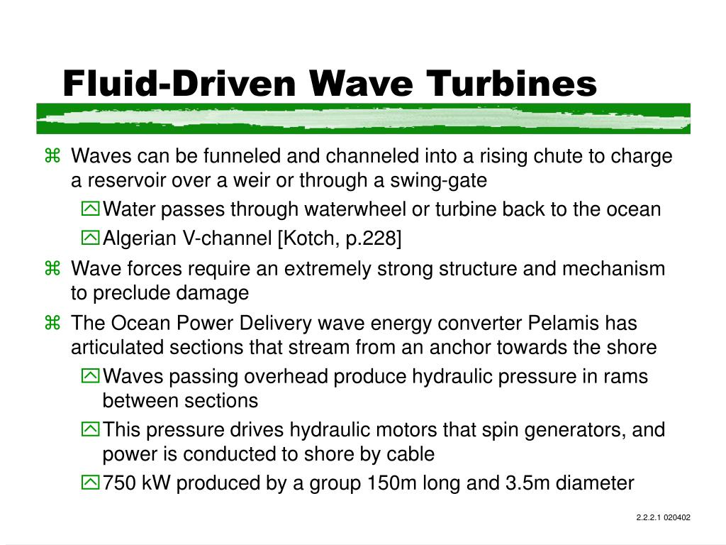 Fluid-Driven Wave Turbines