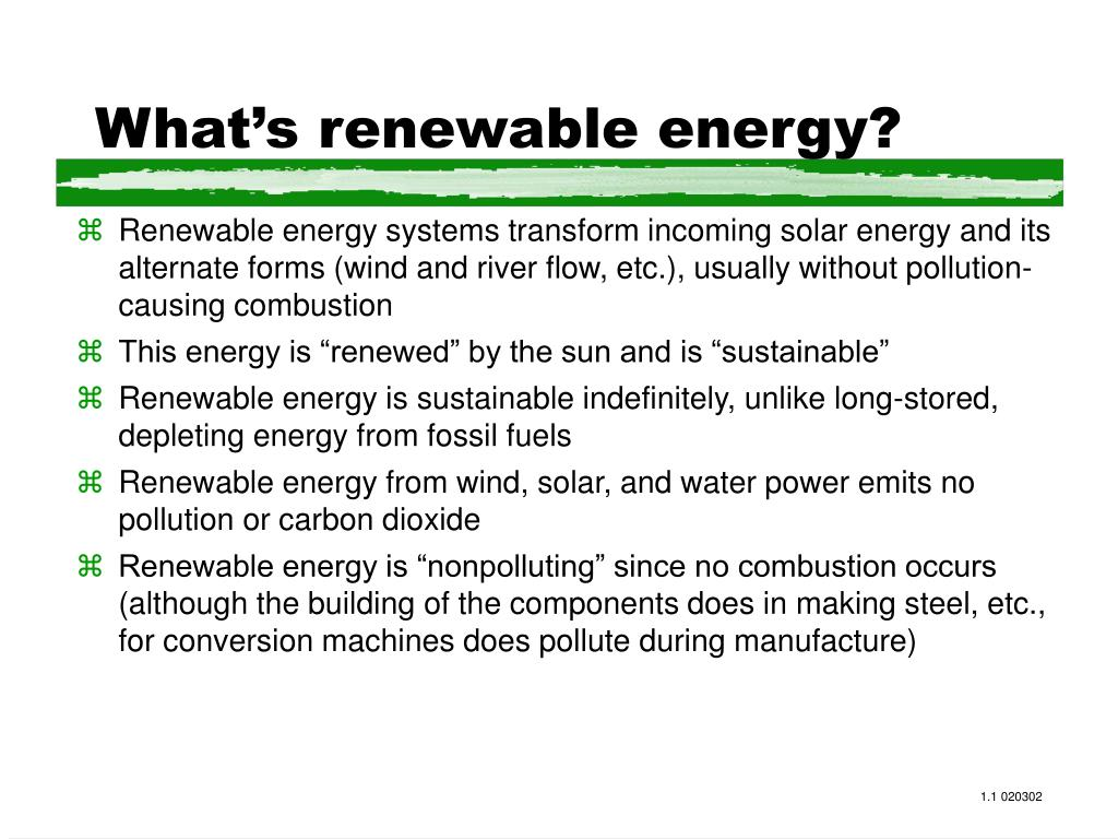 What's renewable energy?