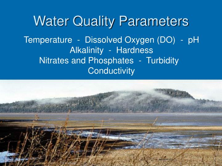 Water quality parameters