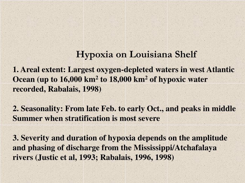 Hypoxia on Louisiana Shelf