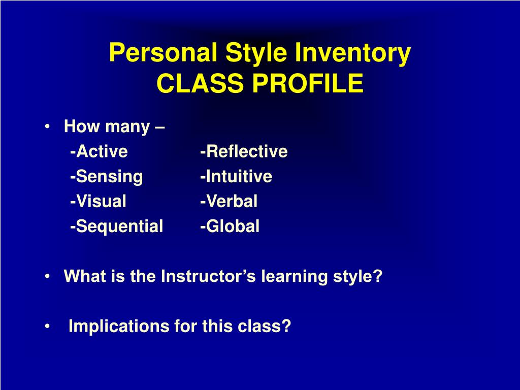 Ppt Why Learning Styles Are Important Powerpoint Presentation Id 238422