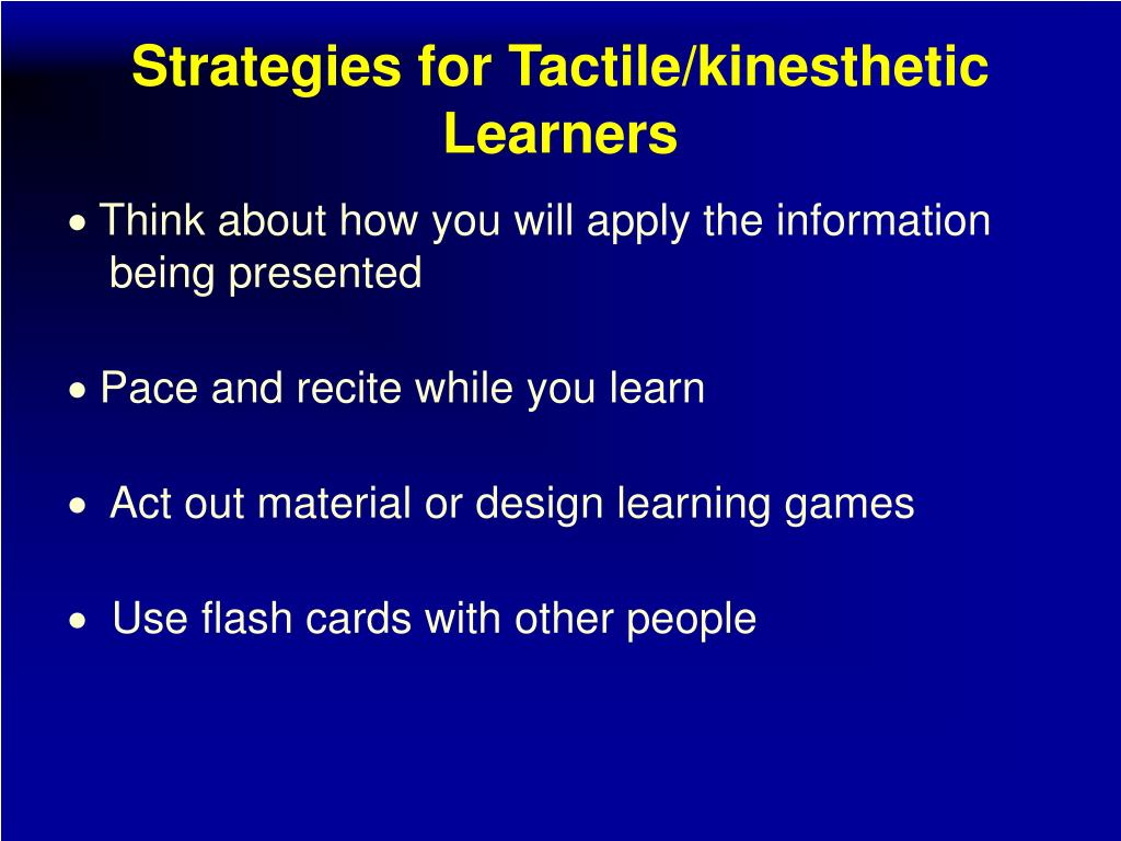 kinesthetic learning The fine line between adhd and kinesthetic learners: 197 kinesthetic activities to quickly improve reading, memory, and learning in just 10 weeks: the  for adhd, add, and kinesthetic learners.