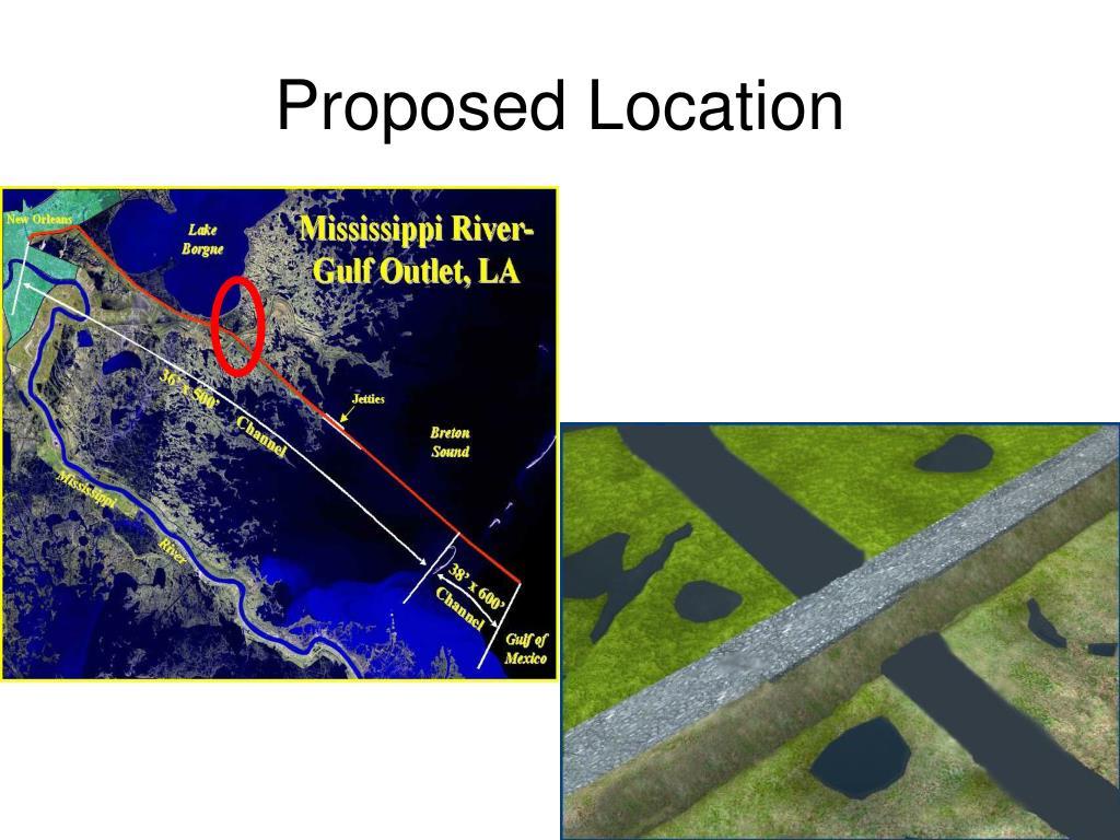 PPT - Mississippi River Gulf Outlet Deep Draft De ...